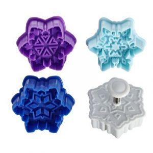 Cutter Snowflake 3D Cookie Cutters Set 4