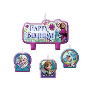 Frozen Themed Birthday Cake Candle Set - set of 4