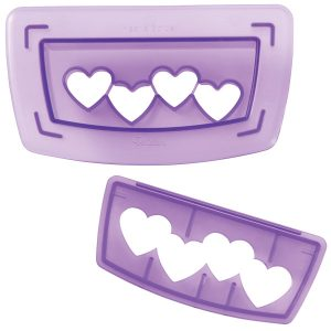 Hearts Border Cutting Insert for Punch Cut and Decorate range  Wilton