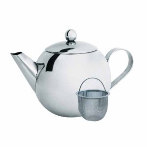 Teapot 850ml with infuser stainless steel by Cuisena
