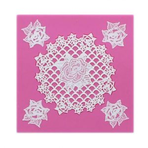 Rosie 3D Cake Lace Mat by Claire Bowman