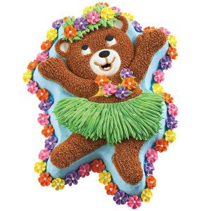 HIRE $5.00 Bear Girl Cake Tin - $50 Deposit Hire