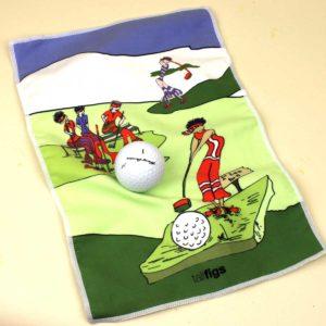 Microfibre Pocket Lens Cloth - Golf Green - Tall Figs