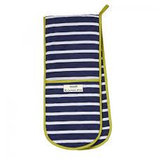 Oven Double  Glove SeaSalt Sailor Stripe