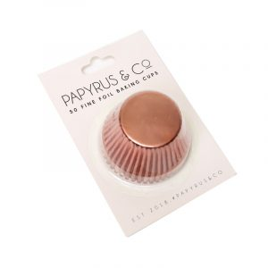 Baking Cups Foil Cupcake Standard 50 pack Rose Gold